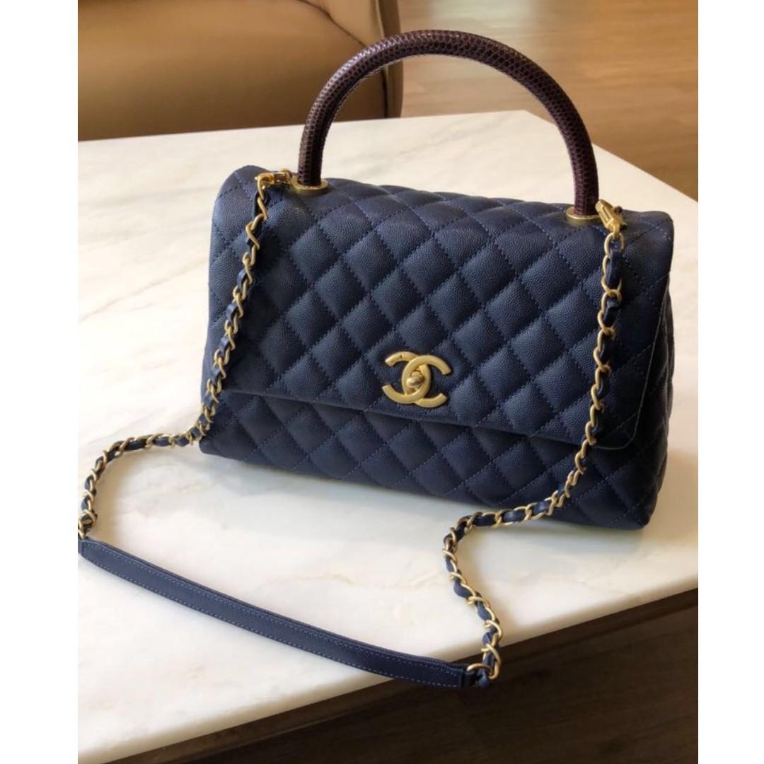 38d38cddee1089 Chanel Coco Handle Lizard 2017, Women's Fashion, Women's Bags & Wallets on  Carousell