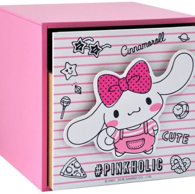 三麗鷗CINNAMOROLL大耳狗 喜拿 直式盒 單抽盒 收納盒 置物盒 桌上盒 抽屜盒
