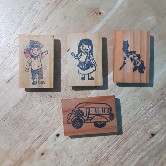 Custom Philippine Stamps 4pcs