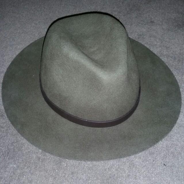Dark green soft hat