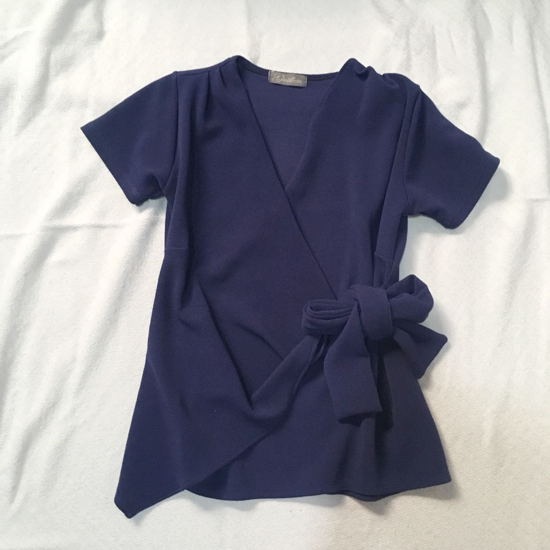 Dark Violet Wrapped Top