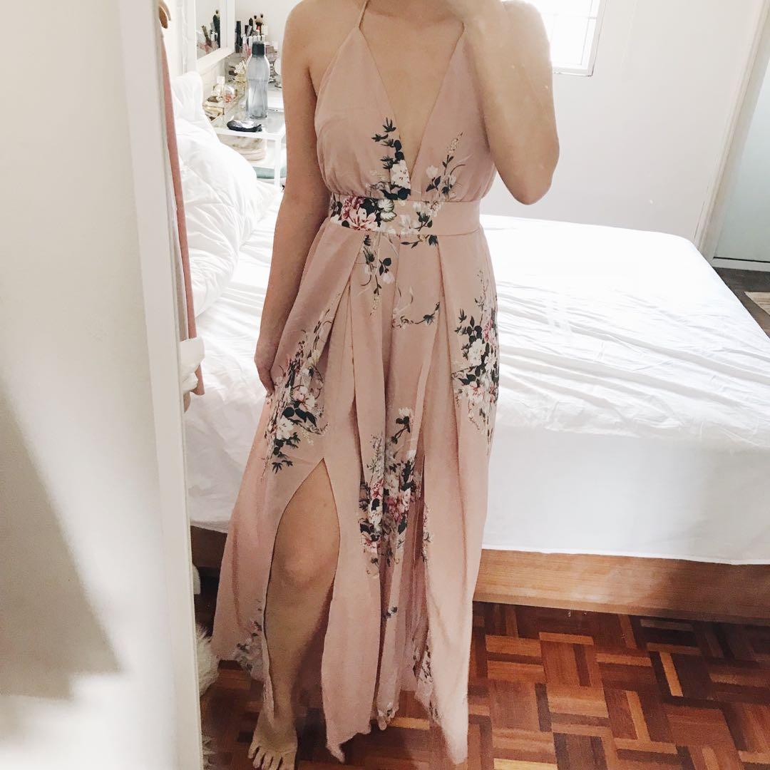 Floral Long Jumpsuit