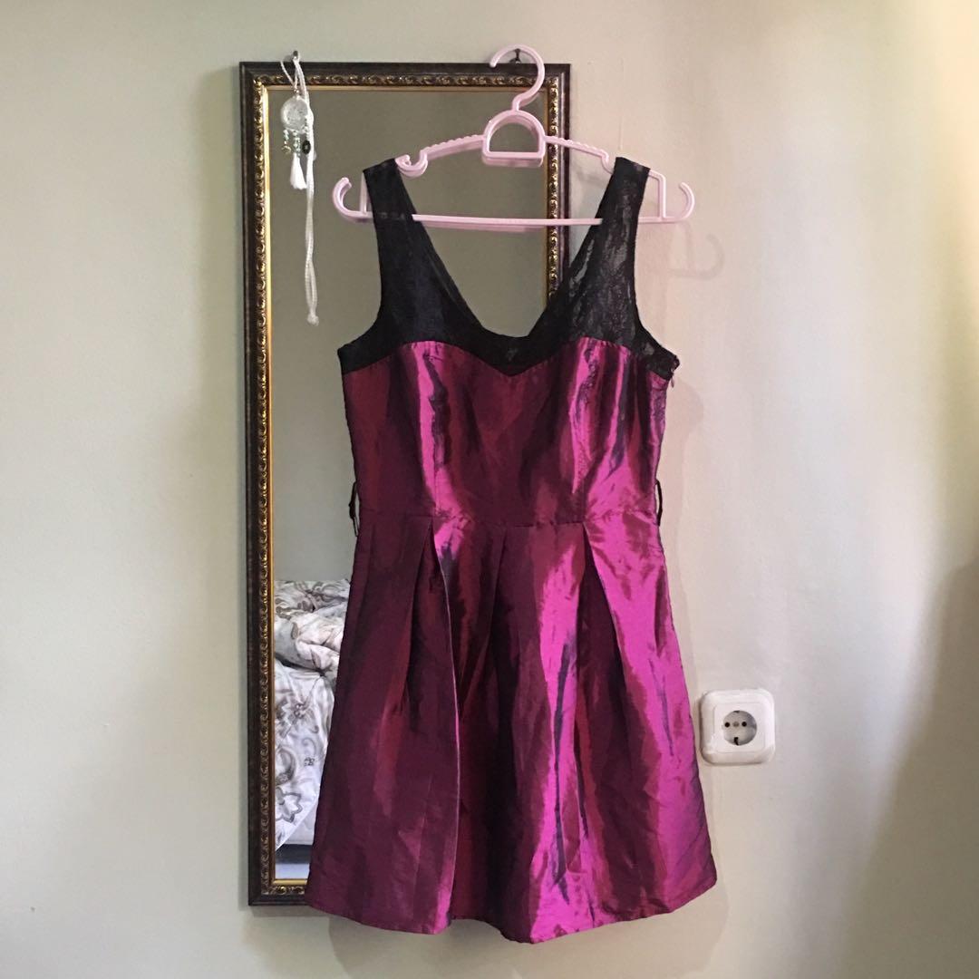 FOREVER21 Maroon Velvet Dress