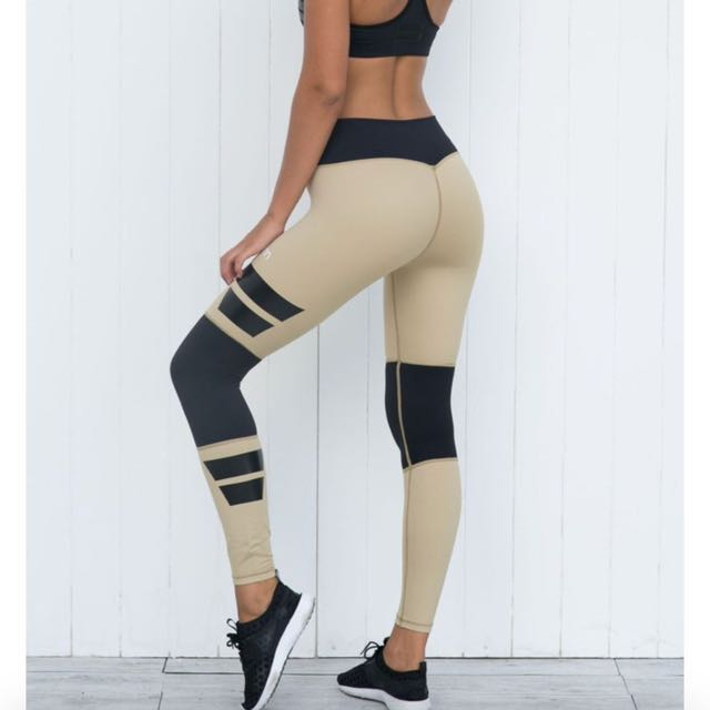 FREE POSTAGE Aimn Savannah Squad High Waisted Tights Active Wear