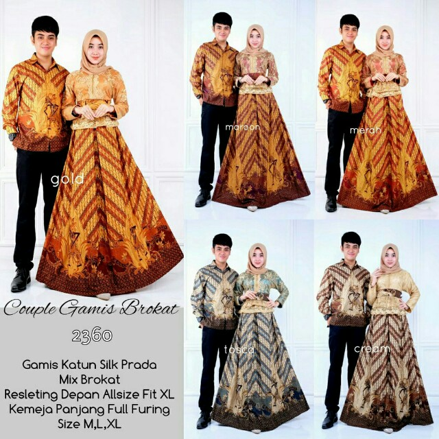 Gamis Batik Couple Set