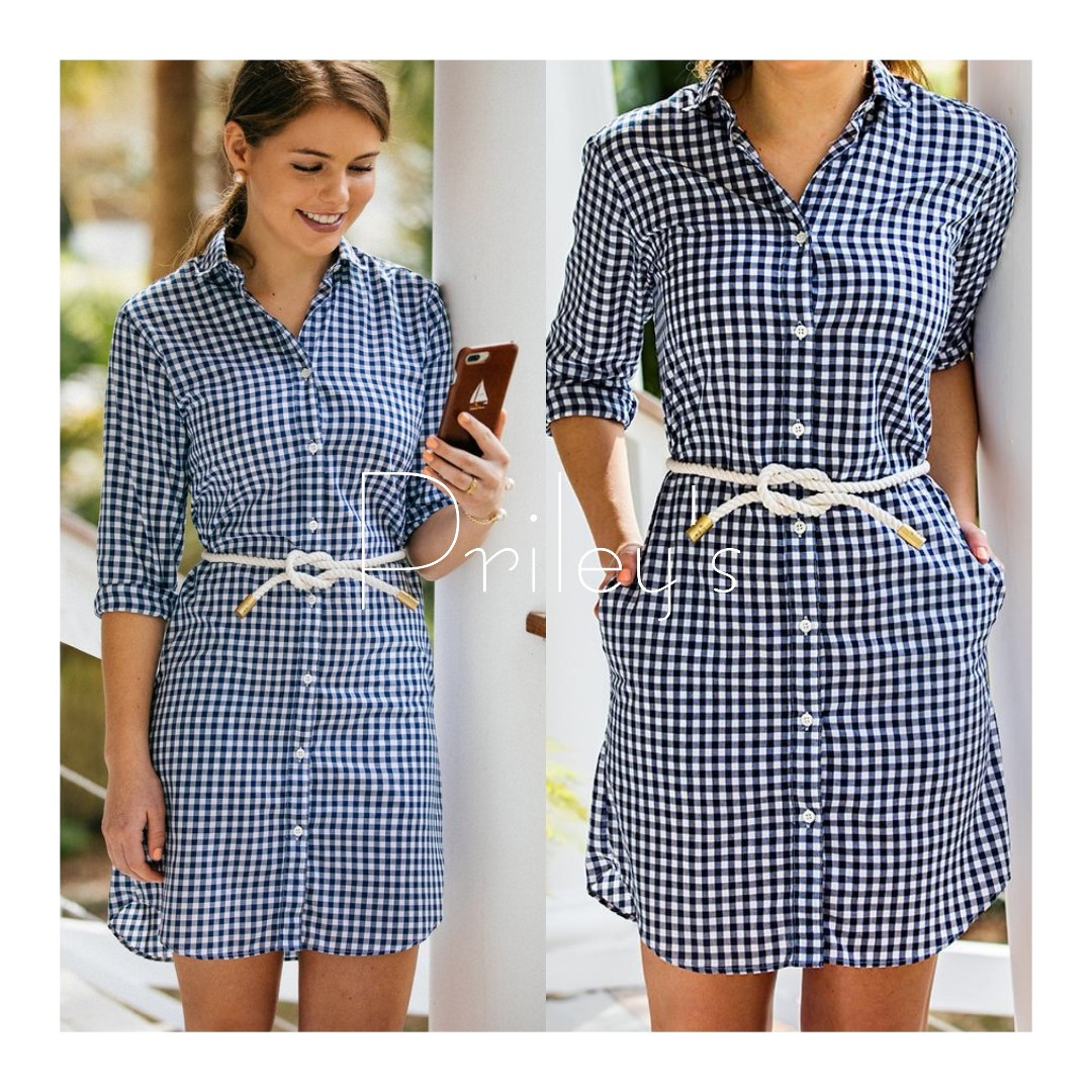 Gingham Long Sleeves Dress