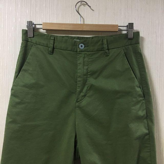 GLOBAL WORK 男直筒褲 S號 綠色