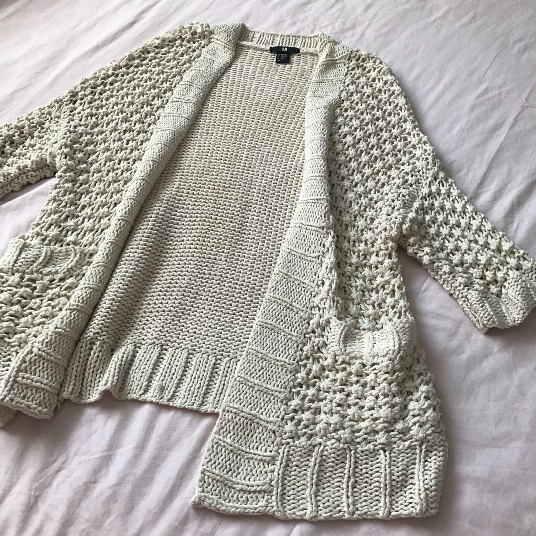H&M Knit Cardigan/Beach Coverup, Preloved Women\'s Fashion, Clothes ...