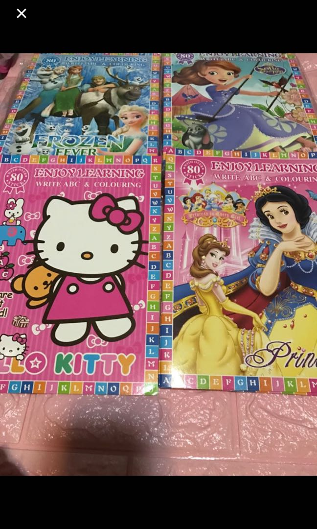 Instock A4 Write ABC And Coloring Book Brand New Frozen Hello Kitty