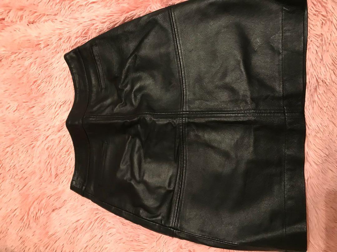 Jacquie Leather Skirt Sz 8