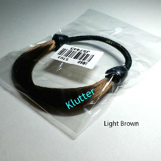 Klutter  5 - Light Brown Fake Hair Tie Elastic Bands Head ... bd5fa907f10