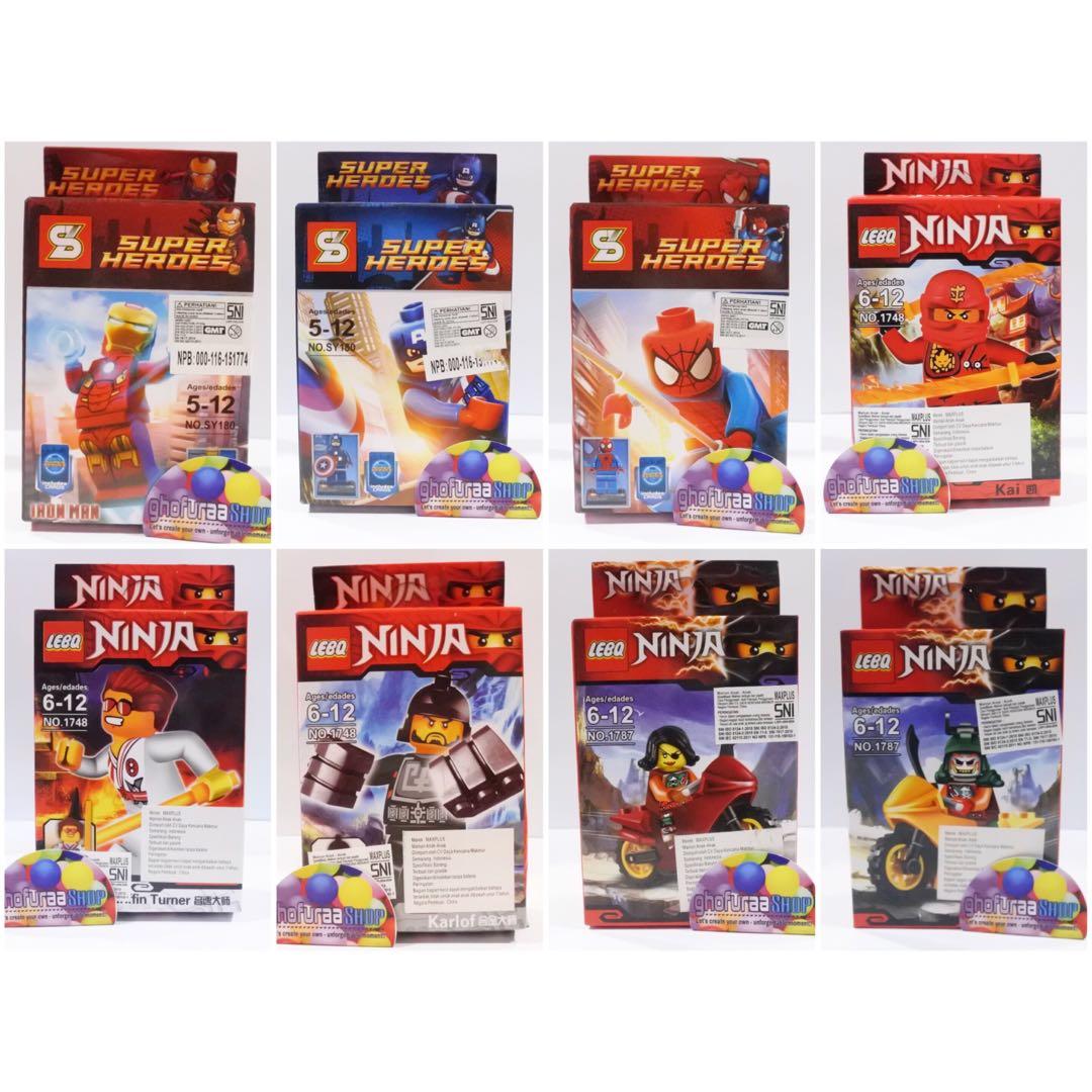 Lego Lebo Mini action figure Ninja Avengers - kado mainan anak