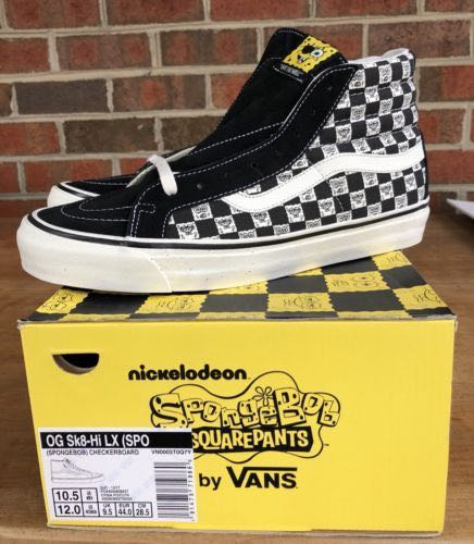 4c578db8b0c3 (Limited) SpongeBob SquarePants x Vans Vault UA OG Sk8-Hi LX Checkerboard  Black