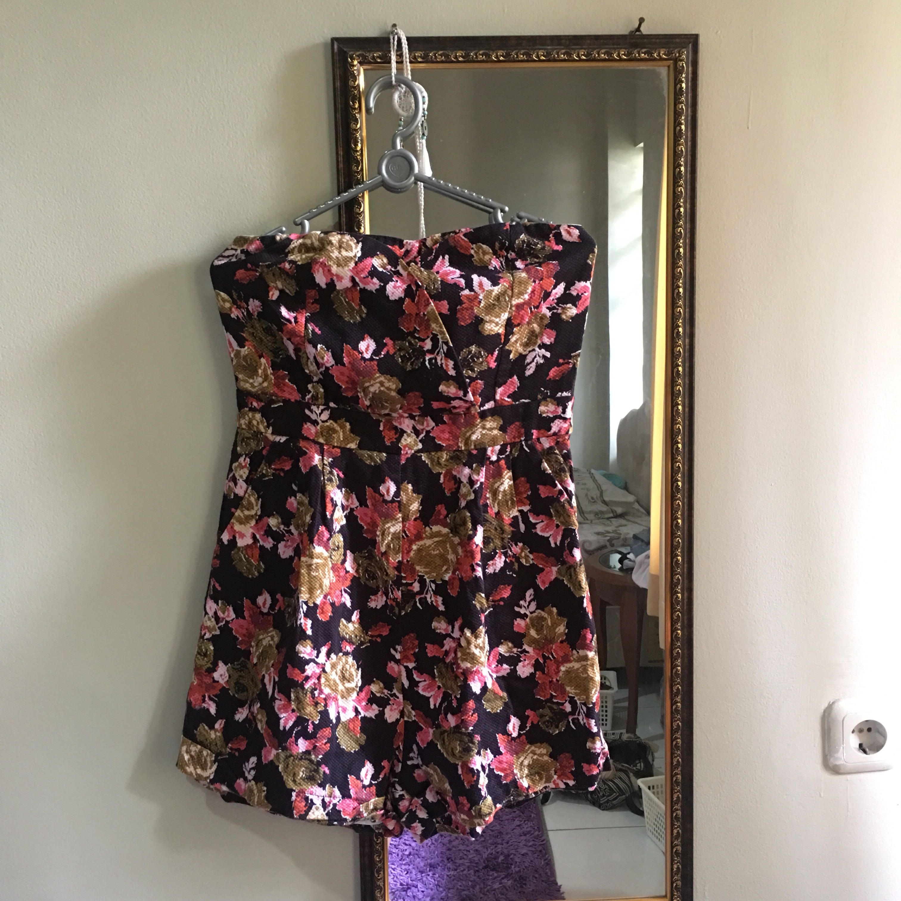 LOVE BONITO Floral Strapless Jumpsuit