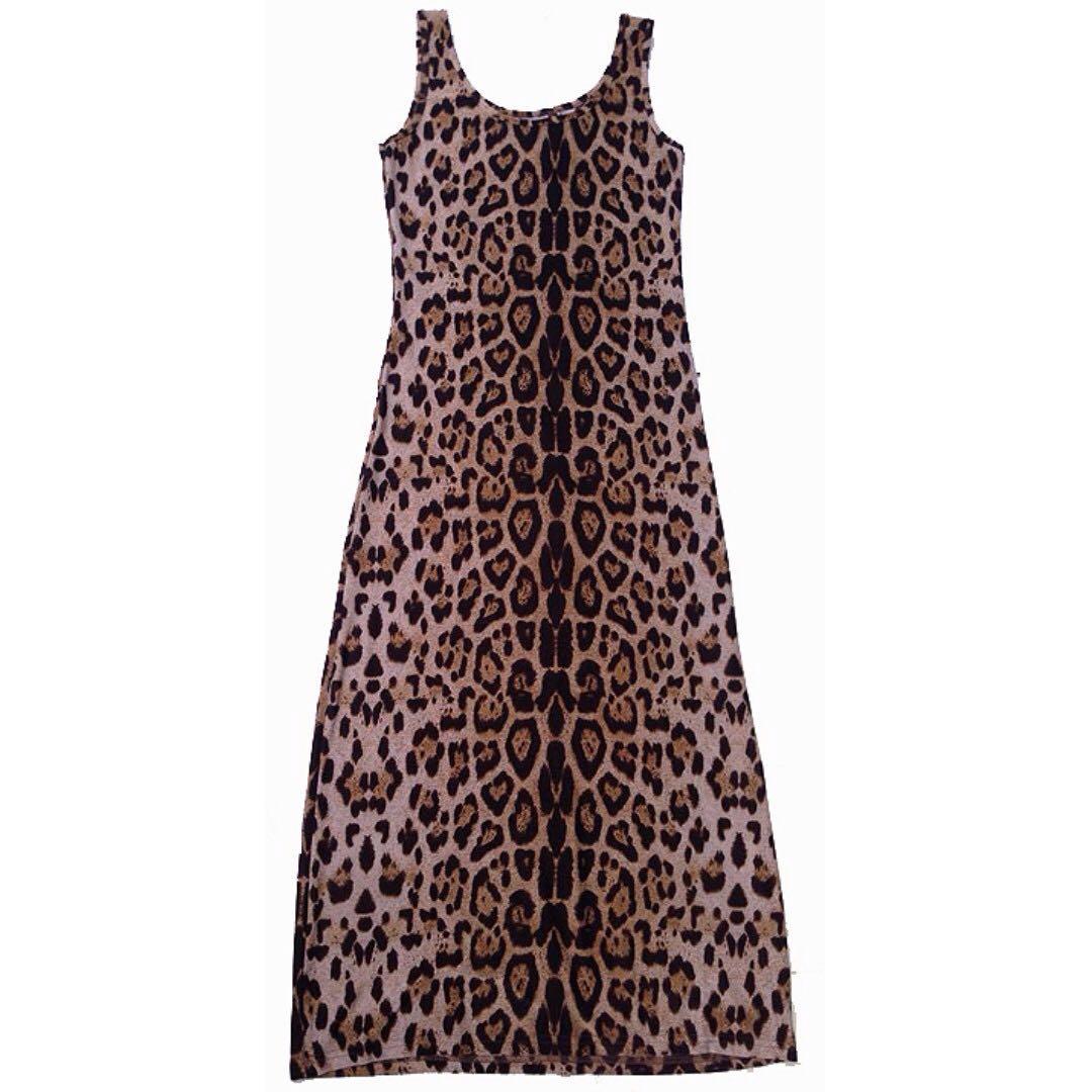 Maldita Leopard Print Long Dress