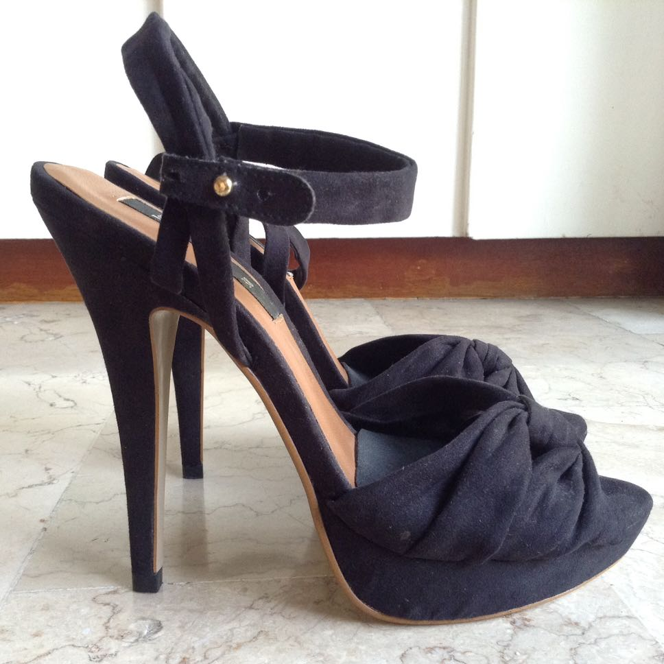 MANGO Black High Heels Shoes