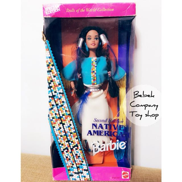 🇺🇸Mattel 1993年 Native American Barbie 世界系列 絕版 古董 芭比娃娃 美國 印地安 全新未拆 盒裝