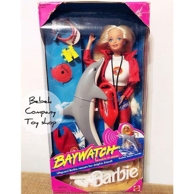 Mattel 1994年 baywatch Barbie 絕版 古董 海豚 芭比娃娃 全新未拆 盒裝 老芭比