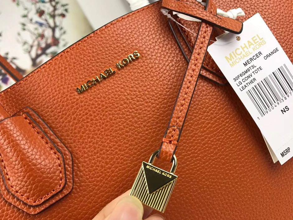 9ee7bdaf8 Michael Kors Mercer Tote Bag - Orange colour, Luxury, Bags & Wallets on  Carousell
