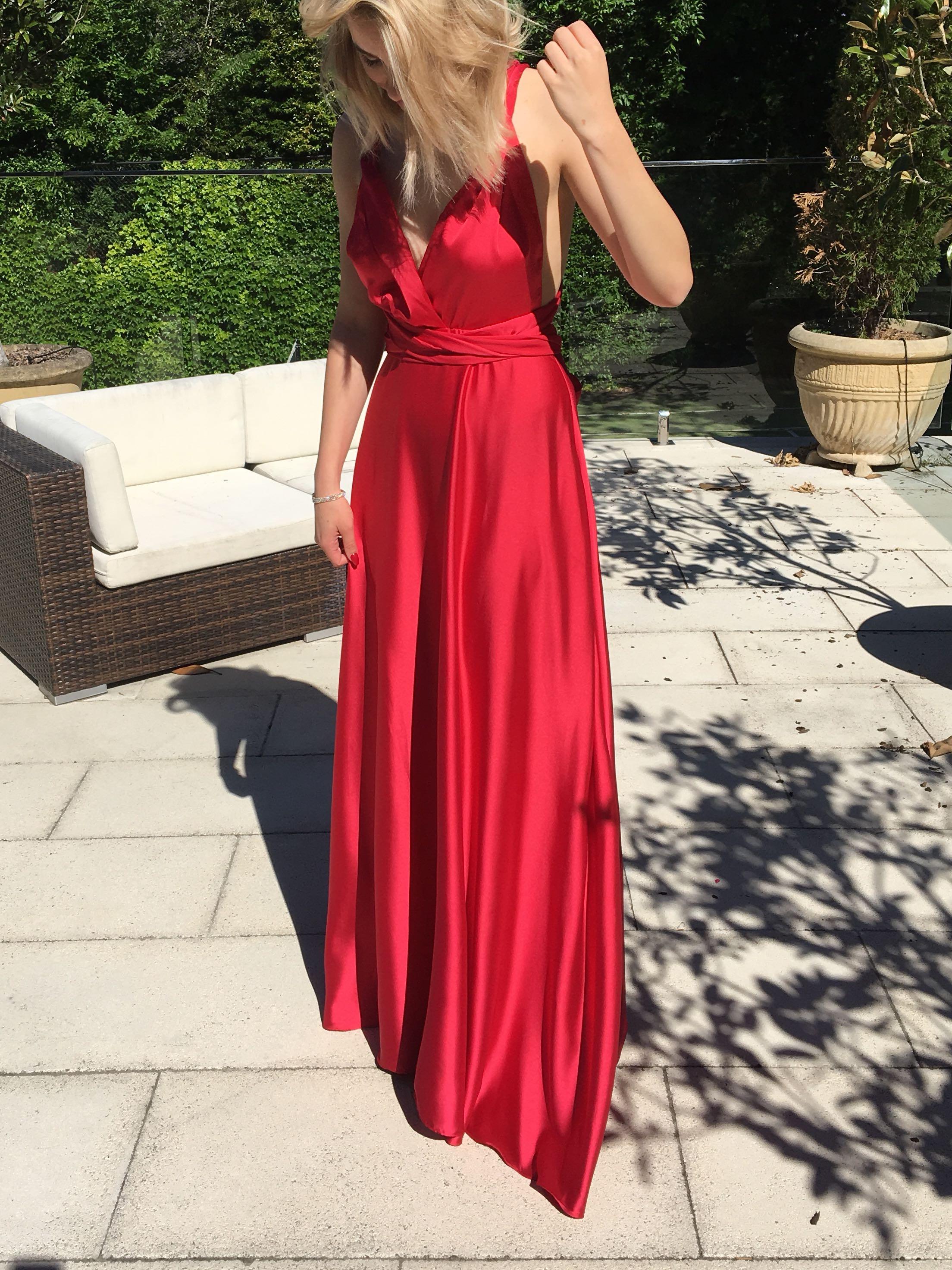 Multi-Way Long Silk Dress
