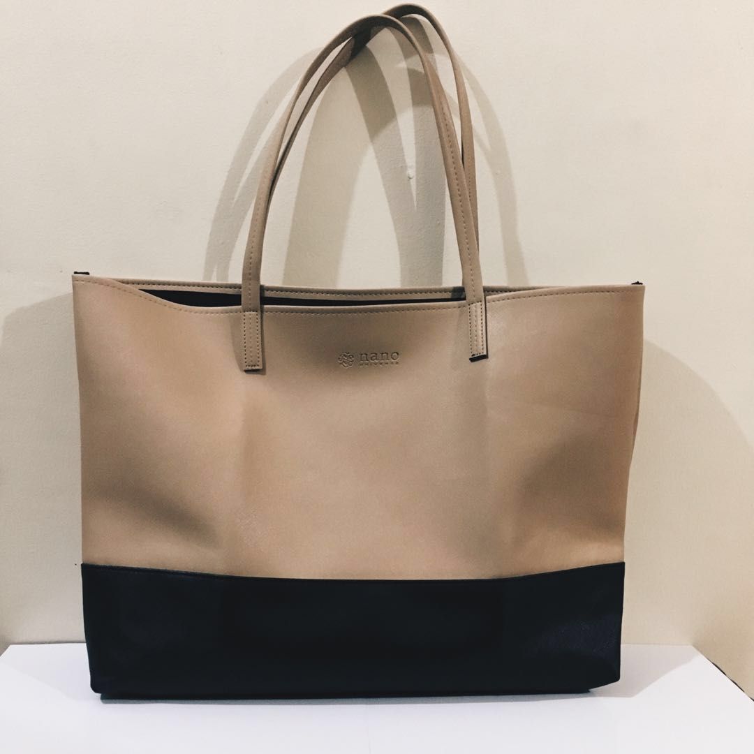 Nano Universe Two-tone Shopper Tote