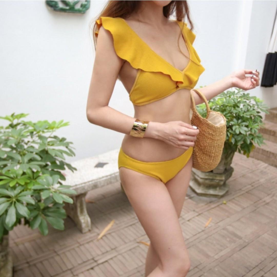 f44cc8a77eb Instock! Korean Bikini Swimwear Online Women Swimsuit Swimming Wear - Yellow