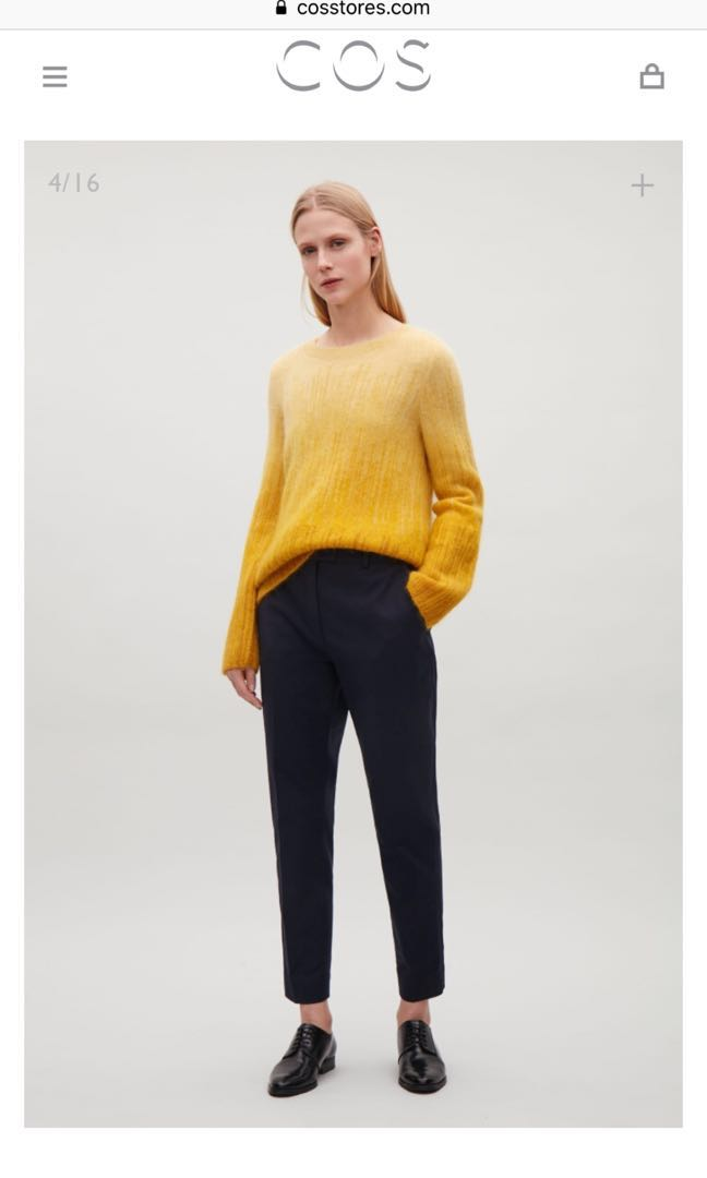 New COS Yellow Gradient Sweater