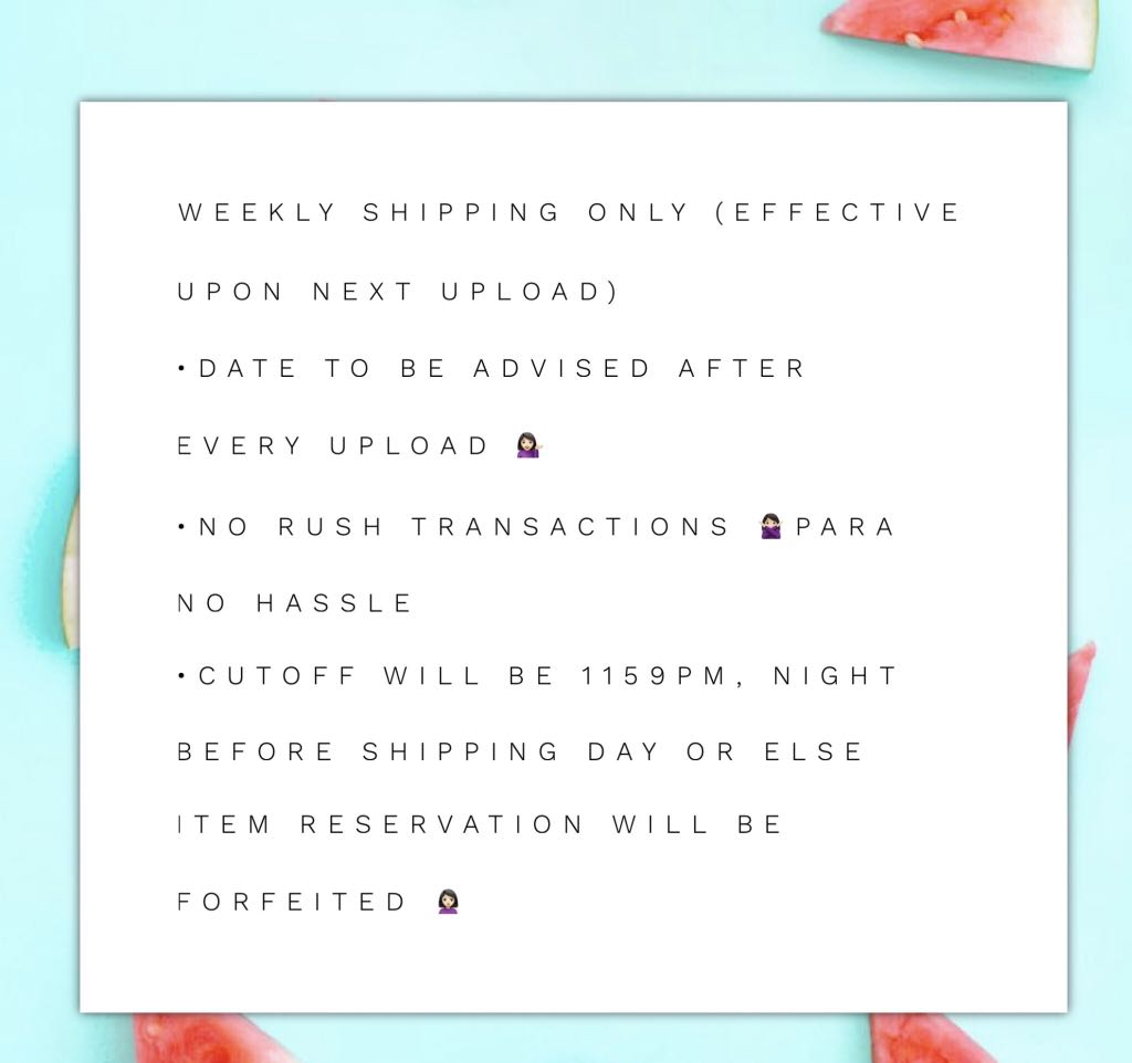 New Shipping Guidelines
