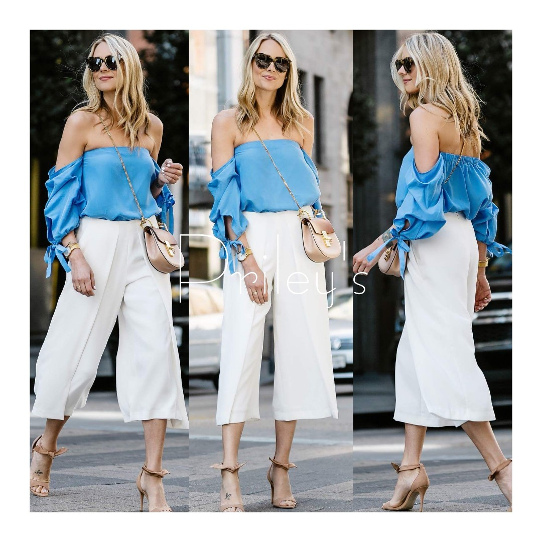 Off-shoulder Top and Pants Set