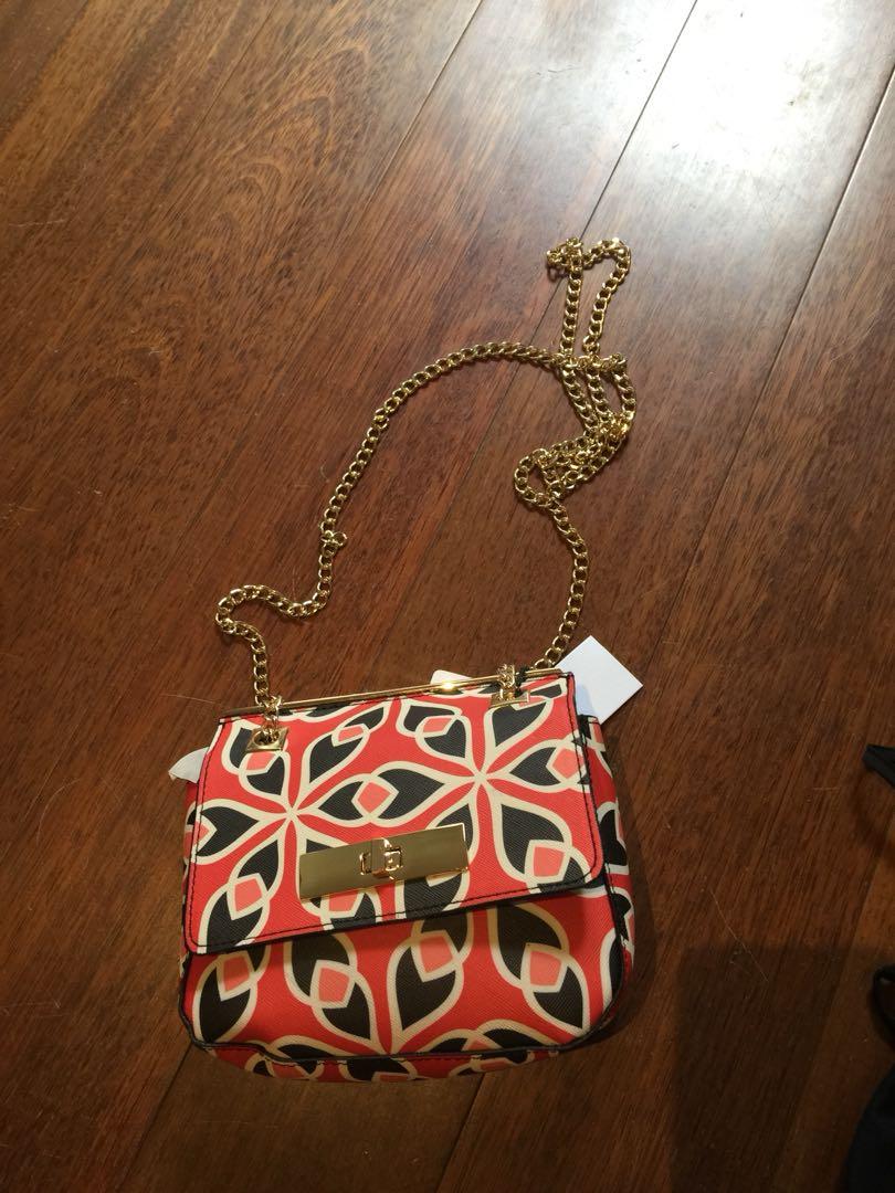 Orange and black bag
