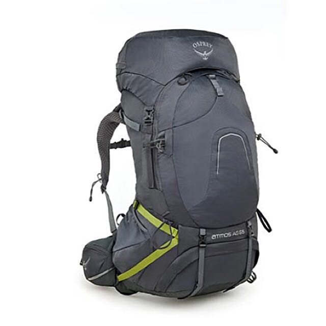 Osprey ATMOS AG™ 65 Backpack/ Haversack/ Thru -Hikking / Rain cover
