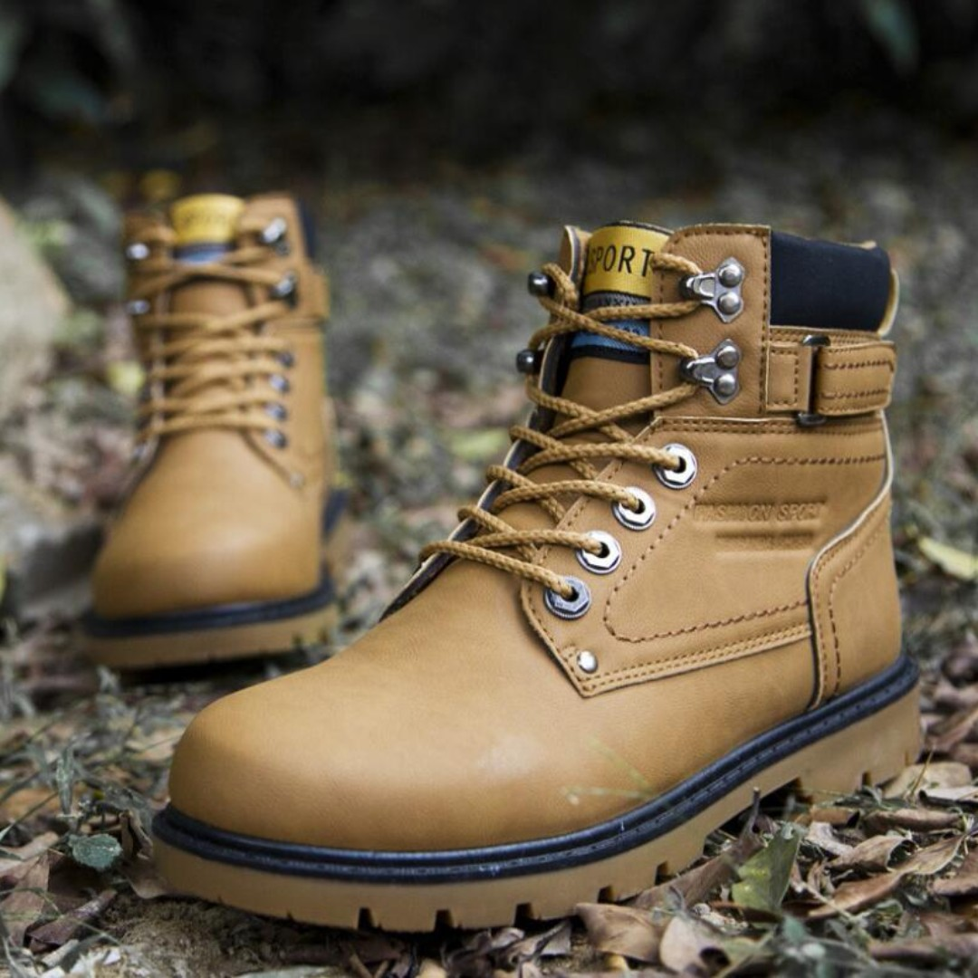 74e92af6b7d9 Outdoor Men's Fashion Thick Bottom Retro Color Designs High Ankle Martin  Boots Shoes
