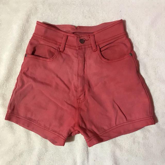 Pastel Pink Highwaist Short