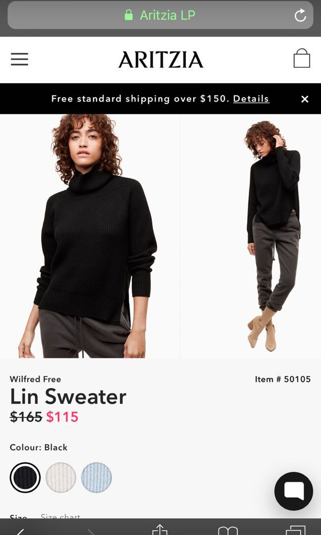 PIRCE DROP aritzia Lin sweater