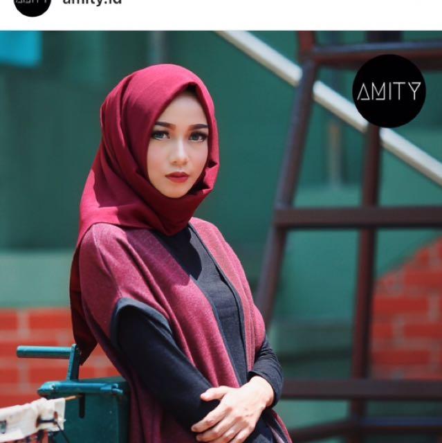 Preloved 1x pakai Amity instant scarf