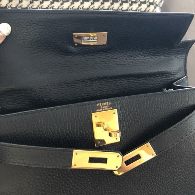 63dc12c065a8 ... discount preloved hermes kelly 28 sellier black ardennes ghw t circle  stamp luxury bags wallets on