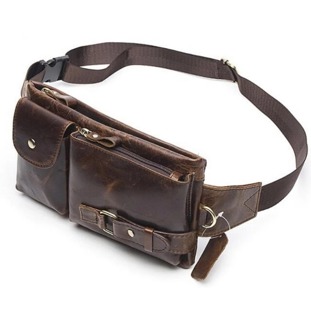 2057ddbdf PU Leather Waist Packs Fanny Pack Belt Bag Phone Pouch Bags Travel Waist  Pack Male Small Waist Bag Leather Pouch, Men's Fashion, Bags & Wallets on  Carousell