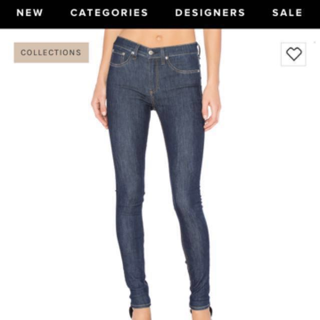 Rag & Bone High Rise Skinny Jean Size 26 From Aritzia