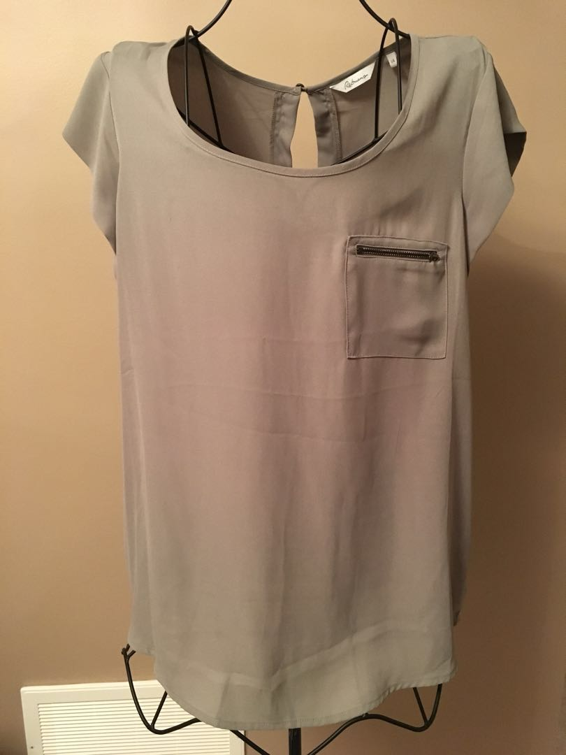 Reitmans olive green top size large