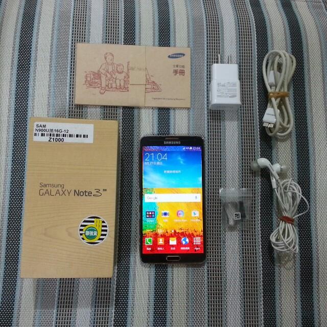 "SAMSUNG NOTE3 N900U 4GLTE 8核心 5.7"" 3GB 16GB 1300萬相機"