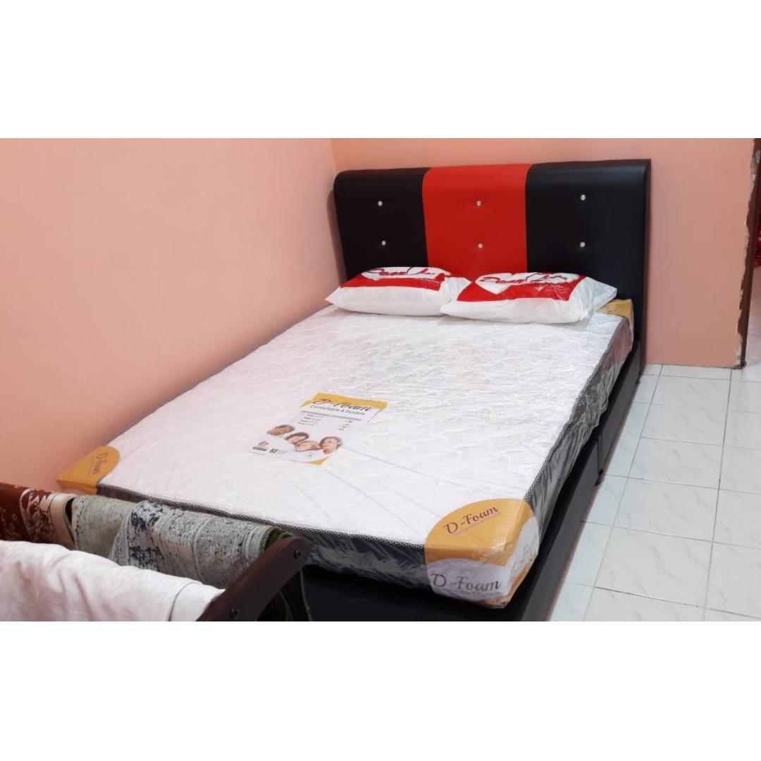Set Combo Katil Divan Queen Dan Tilam Rm 600 Murah Jer Home Furniture Others On Carou