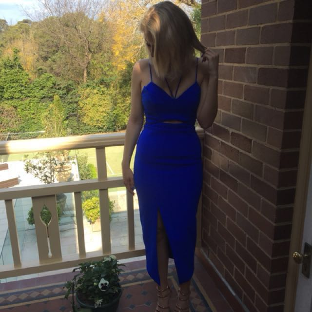 Shieke Strappy Dress in Royal Blue
