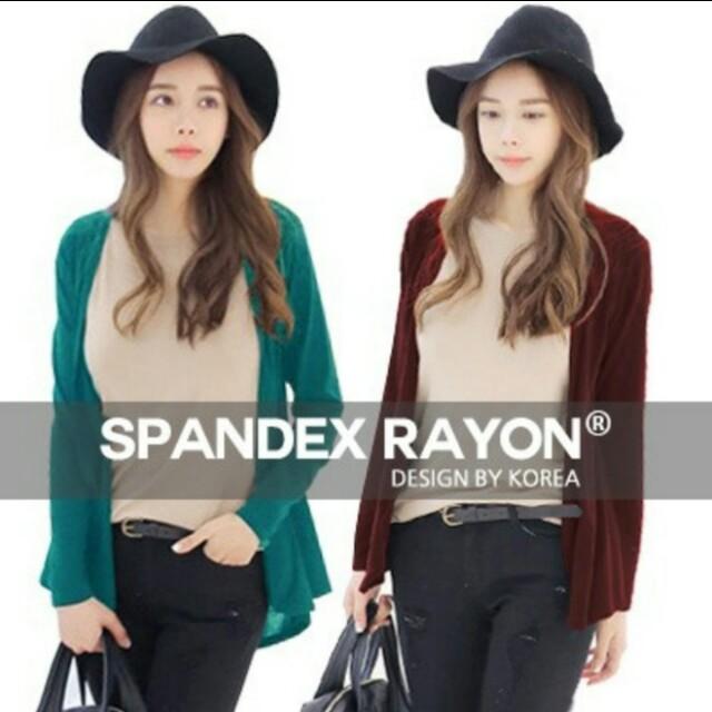(standard size) Spandex rayon shawl cardigan