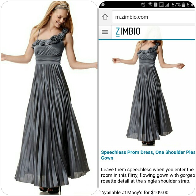 Speechless One Shoulder Pleated Prom Dress, Preloved Women\'s Fashion ...