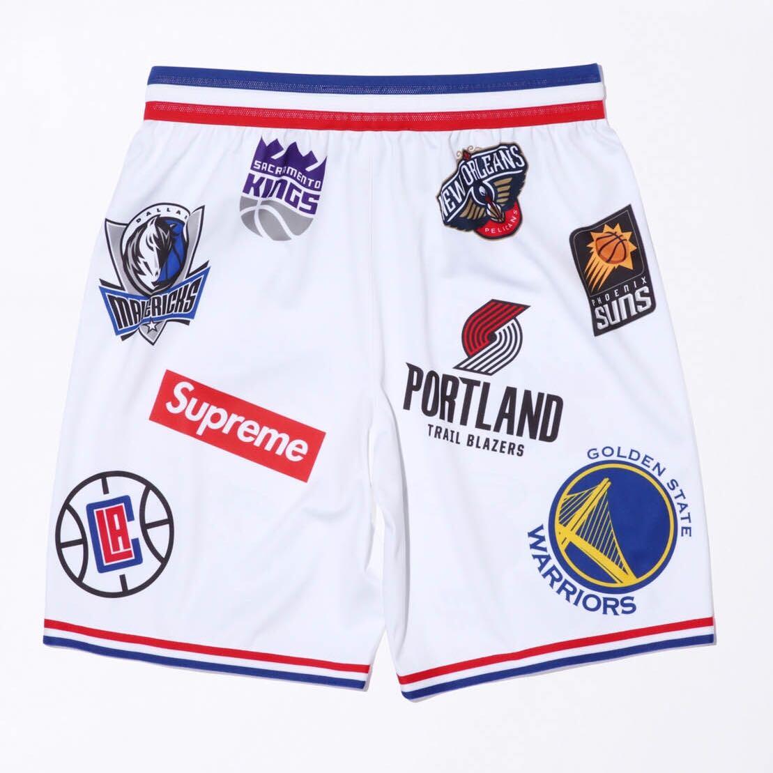 bb3d82a618d Supreme x Nike x NBA Jersey Shorts White