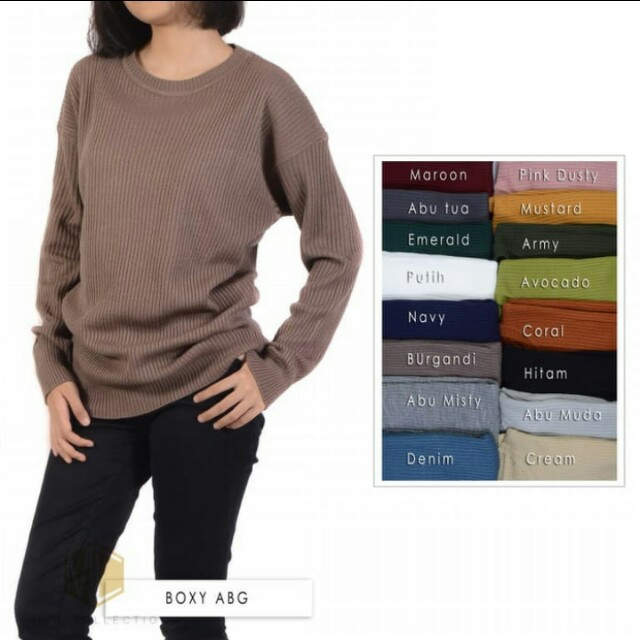 Sweater boxy premium ABG