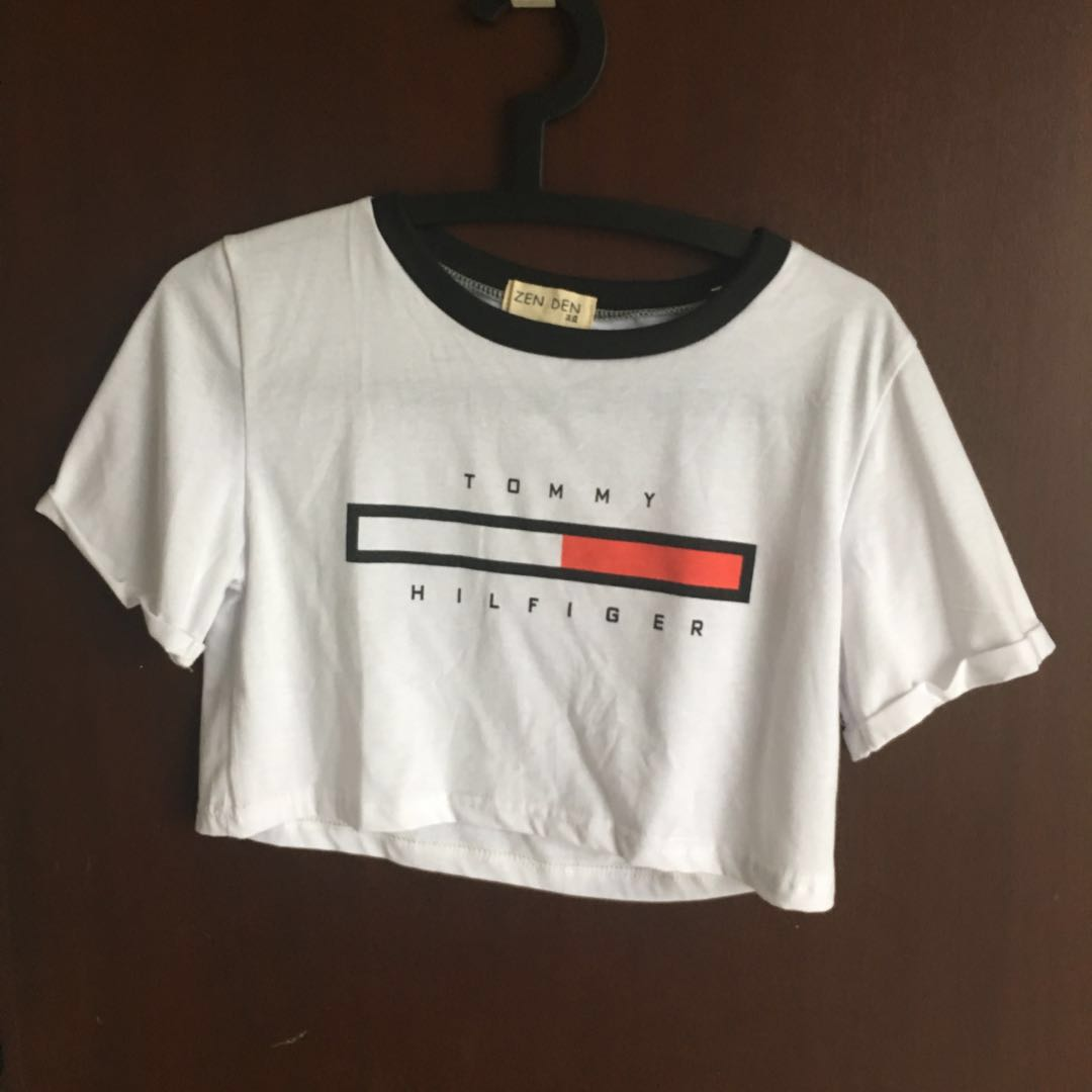 fa71a59a6 Tommy Hilfiger Crop Top (inspired), Women's Fashion, Clothes, Tops on  Carousell