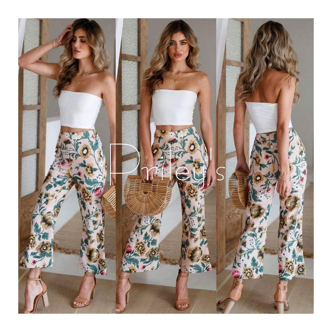 Tube Top and Floral Pants