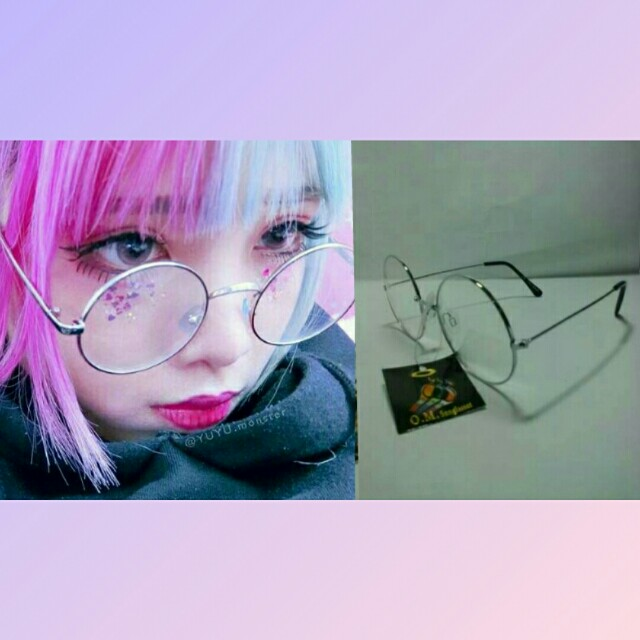 Ulzzang silver round glasses