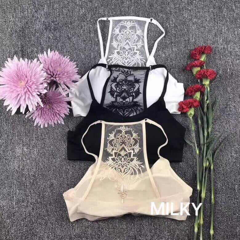 Unique design cut in bralet